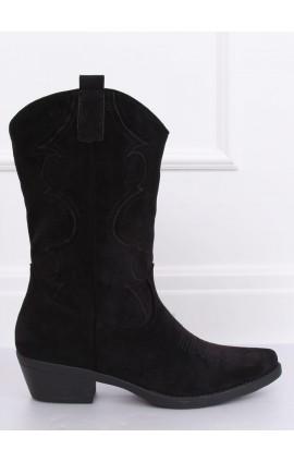 Kaubojiško stiliaus batai  NC972j juodi