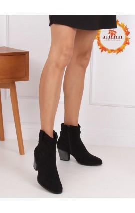 Auliniai batai ant kulno  100-986B0-2j juodi