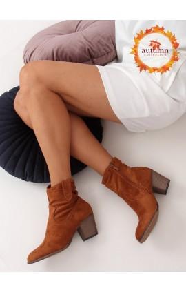 Auliniai batai su kulnu 100-986B0-2r rudi